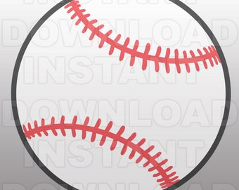 Baseball SVG File Cutting Template - Clip Art for Commercial and Personal Use - Vector Art file for Cricut, SCAL, Cameo, Sizzix, Pazzles