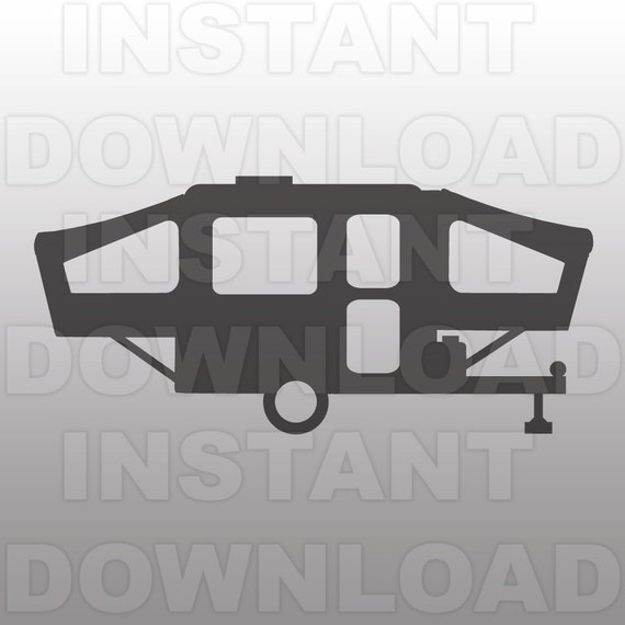 Pop Up Camper Svg File Cutting Template Vector Clip Art For