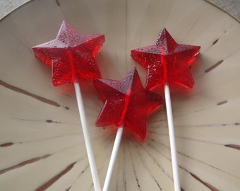 10 Beautiful Faceted Star Lollipop Party Favor