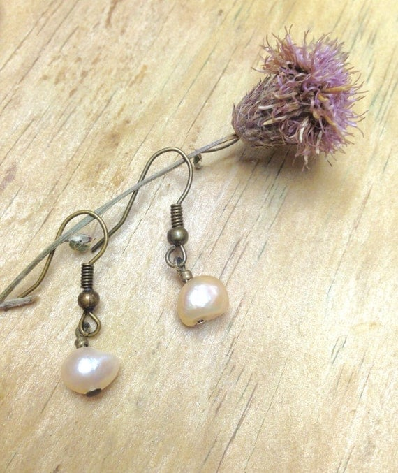Dangle Drop Earrings with Pearls Vintage Wedding Earrings Holiday Gift Jewelry Bohemian Jewelry