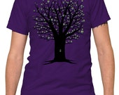 Owlie Tree Cute Fun Purple Tshirt