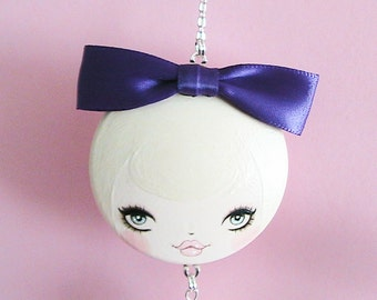 Pearl Doll Face Necklace