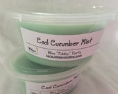 COOL CUCUMBER MINT - Two 2 oz Bliss Soy Tubby Tarts
