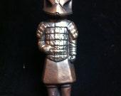 Bronze Terra-Clone warrior Statue original Sculpt and cast Terra Cotta Warrior