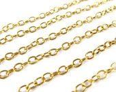 Vintage Gold Plated Cable Chain (4 feet) (C694)