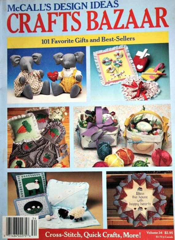 Sewing patterns mccall 39 s crafts bazaar vintage paper for Best bazaar crafts to make and sell