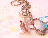 "Firefly Lightning Bug Vial Necklace Secret Message in Bottle Soldered Necklace ""Appreciate"""