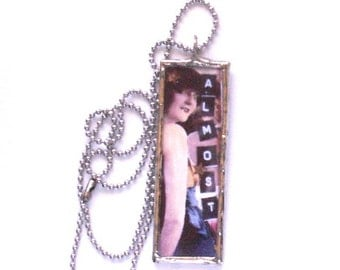 Microscope Slide Soldered Glass Art Collage Necklace Silver Lead free Solder Almost to Rio theme