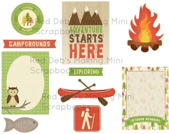 Camping Collage Sheet Project Life Printables