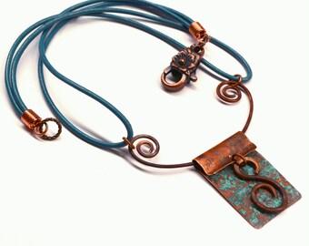 Rustic Copper Pendant Necklace PN2431