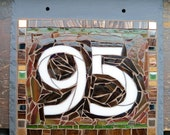 NEW House Number Arts and Crafts Style on Slate 2 Digit 8x8