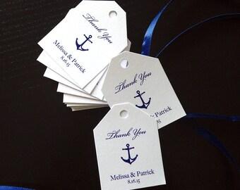 Mini Anchors Aweigh Nautical Theme Favor Tags