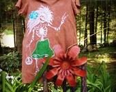Batik Rosebud Dress- Brown 2XL/3XL