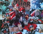 THOR Decoupage Comic Collage Canvas