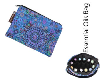Essential Oil Bag - Essential Oil Pouch - Oil Bags - Waterproof lining fabric -- Murano Glass Fabric