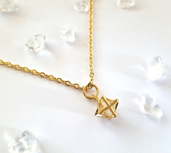 gold merkaba necklace gift by corinnamaggydesigns