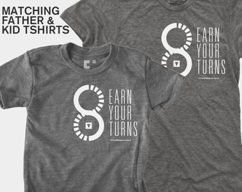 SALE! Matching Father Son Shirts, Dad and Baby Matching TShirts, Biking, Skiing, Racing, Gifts for Dad, Father Child Matching