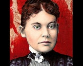 "Print 8x10"" - Lizzie Borden - Axe Murder Dark Art Horror Blood Antique Victorian Gothic Halloween Serial Killers Lowbrow Art Pop Blood"