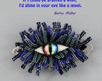 Fantasy jewelry. Weird jewelry. Eye of the Dragon, brooch (pin)