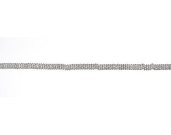 Silver tone Daisy Spacer beads (130+) 4MM NIP