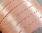 "Satin Ribbon (R28A)  3/8"" wide Peach - 25 Yard Spool//Crafts DIY Wedding Streamers Dreamcatchers Bows Party Decor"