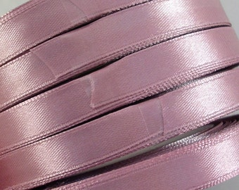 "Satin Ribbon (R32A)  Dusty Pink  3/8"" wide - 25 Yard Spool  for Sewing Crafts DIY Weddings Party Decor Wands Streamers"