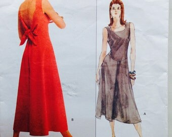 Vogue American Designer Sewing Pattern Vintage 80s Montana Sleeveless Dress Long Fitted Bodice