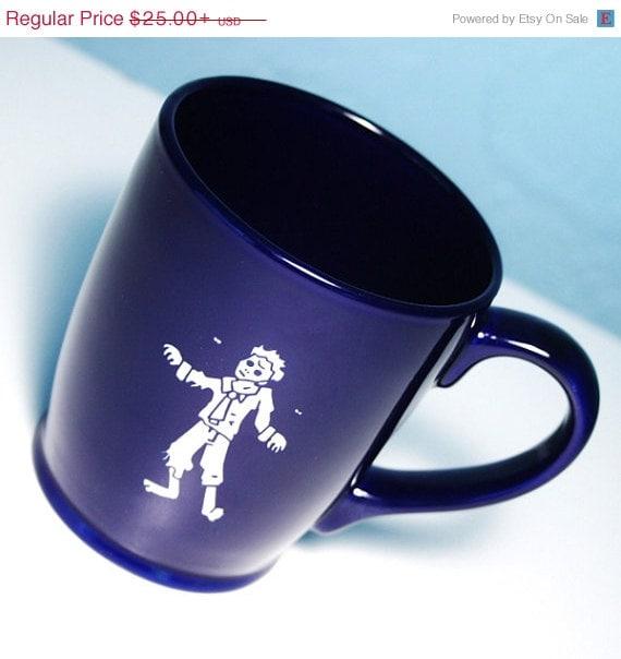 Etsyversary Sale Zombie Mug Navy Blue large by BreadandBadger