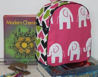 Handmade Elephant Backpack for a Toddler -Ready to Ship