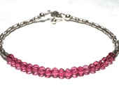 Pink Quartz Bracelet, Pink Quartz Jewelry, Karen Hill Bracelet, Karen Hill Jewelry, Mystic Pink Quartz, Pink Quartz Beads, Karen Hill Tribe