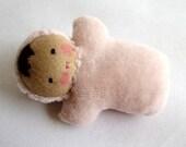 Waldorf doll, Waldorf pocket baby, gift for girls, Steiner doll
