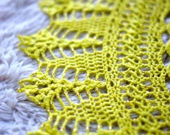 The Secret Garden Crocheted Shawl in PDF File