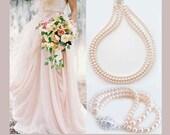 Bridal Necklace Bracelet, Wedding Jewelry Set Pearl, Blush Bridal Jewelry, Swarovski Pearl Jewelry Set, Wedding Necklace, Bridal Jewelry