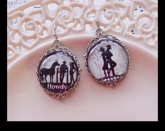 Rodeo Cowgirl, cowgirl earrings, ...gift boxed and ready to ship TODAY, cowgirl jewelry, rodeo, cowgirls, horses