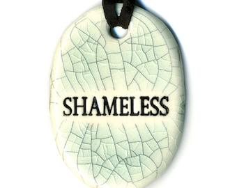 Shameless Ceramic Necklace in Crackle
