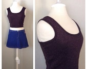 SALE...Vintage 90s sparkle crop top / tank top  / cropped /street fashion