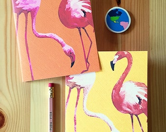Flamingo Tropicale Caribbean inspired pocket-sized travel notebook