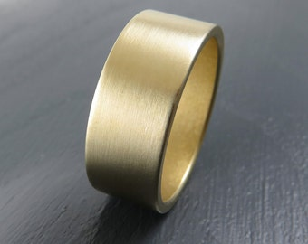 Classic 8MM Gold Low Profile Wedding Band