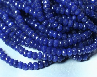Candy jade faceted rondelle 4mm midnight blue 15-inch strand (item ID CJ4mRNLB)