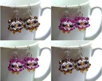 Swarovski earrings;crystal earrings;Owlet Crystal Earrings (E012-02)