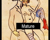 Erotic Picasso Sew on Patch-es Mature Sexual Activity Fernandez-de-Soto Woman Nude Giclée Art Print Rare FREE S/h MbG