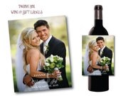 CUSTOM LISTING for Amy 4x5 Photo Custom Thank You Wine Labels