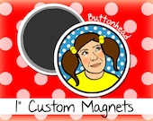 250 Small Magnets Custom Bulk Wholesale 1 Inch Round