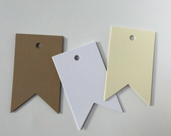 50 Blank Pennant Tags, Wedding Escort Cards, Nautical Flag Tags, Gift Tag, Rustic Pennant Tag, Wedding Pennant Tags, Country Tags