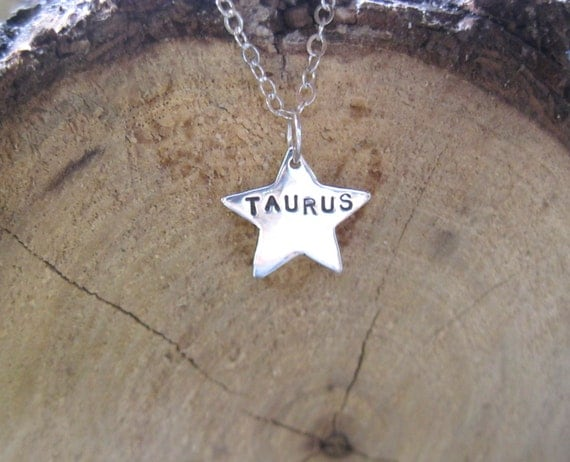 Zodiac Necklace-Star Sign Star Astrology Necklace-Recycled Sterling-Vegan Necklace-Vegan Jewelry-Horoscope-Eco Friendly-Recycled Metals