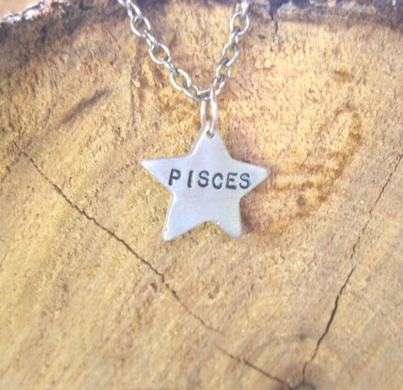 Pisces-Star Sign Star-Astrology Necklace-Zodiac Necklace-Star Charm-Vegan-Gift-Birthday-Anniversary-Eco Friendly