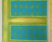 "E 16x20"" acrylic painting"