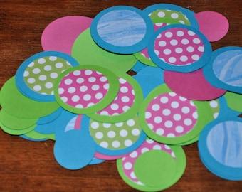 Pink Confetti. Blue Confetti. Green Confetti. Confetter. Minis. Set of 125 pieces. Polka Dots