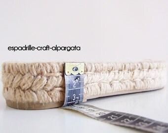espadrille jute soles - M9 - 3 cms platform - 35 to 41 European size