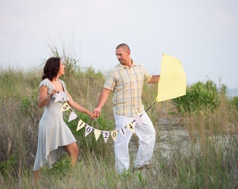 Wedding Banner - Engagement Announcement Banner - Pennant banner